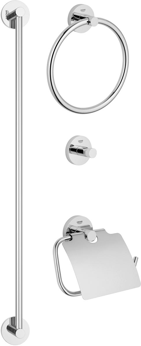 Набор аксессуаров для ванной комнаты Grohe Essentials, 4 предмета 40344000 essentials набор аксессуаров 5 предметов grohe