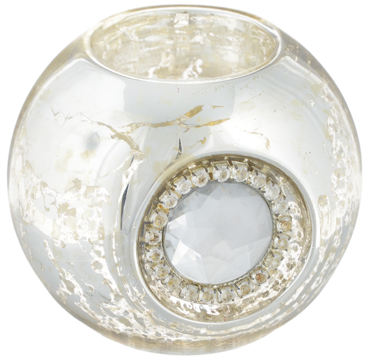 Подсвечник Lovemark Шарик, цвет: серебристый, диаметр 8 см94702Подсвечник Lovemark Шарик изготовлен из стекла иукрашен крупным граненымкамнем и стразами. Предназначен для чайных свечей.Такой подсвечник отличноукрасит интерьер дома в преддверии Нового Года.Откройте для себя удивительный мир сказок и грез.Почувствуйте волшебныеминуты ожидания праздника, создайте новогоднеенастроение вашим дорогим иблизким. Диаметр отверстия для чайной свечи: 4 см.