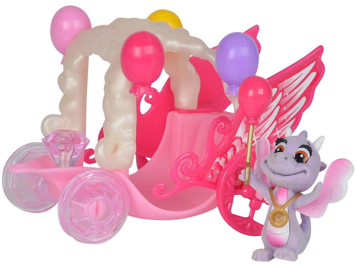 Simba Игровой набор Карета дракончиков Safiras цвет розовый сиреневый лошадка simba с каретой 4410389