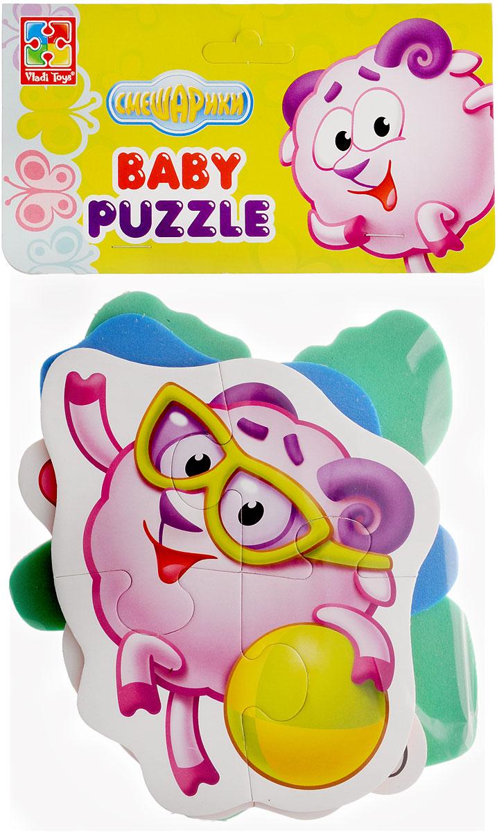 Vladi Toys Мягкие пазлы Baby puzzle Смешарики Нюша, Бараш, Панди, Лосяш пазлы vladi toys пазлы мягкие baby puzzle сказки репка