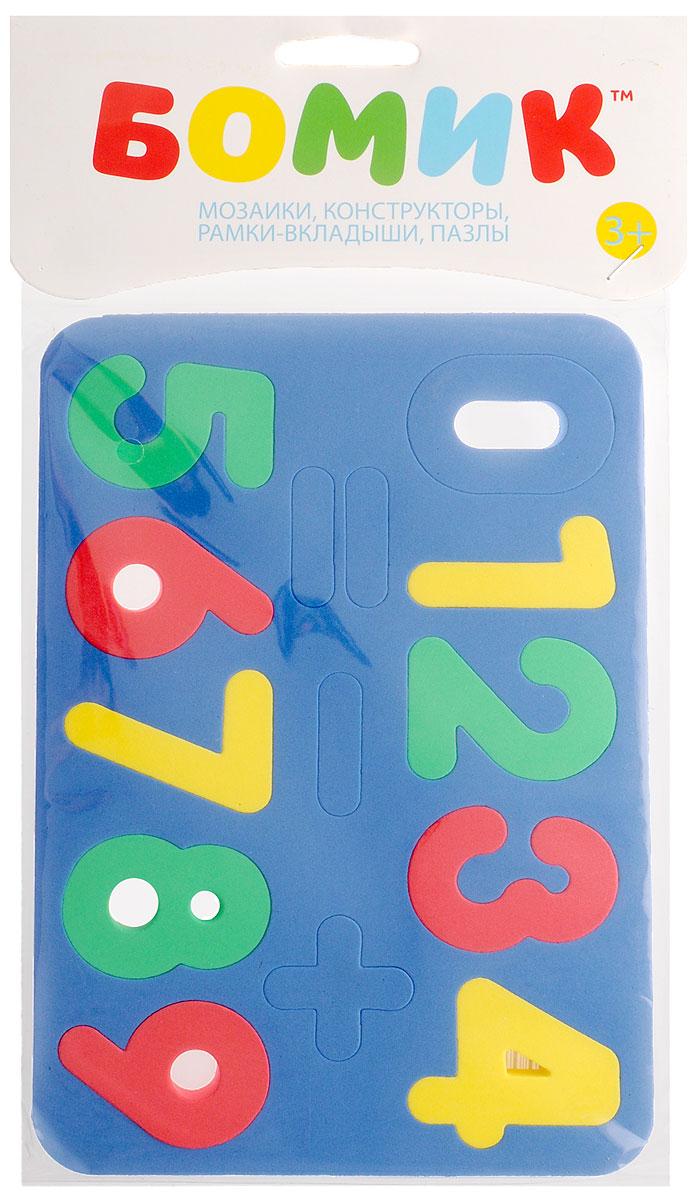 Бомик Пазл для малышей Цифры цвет основы синий коврик пазл для детей мягкий пол купить