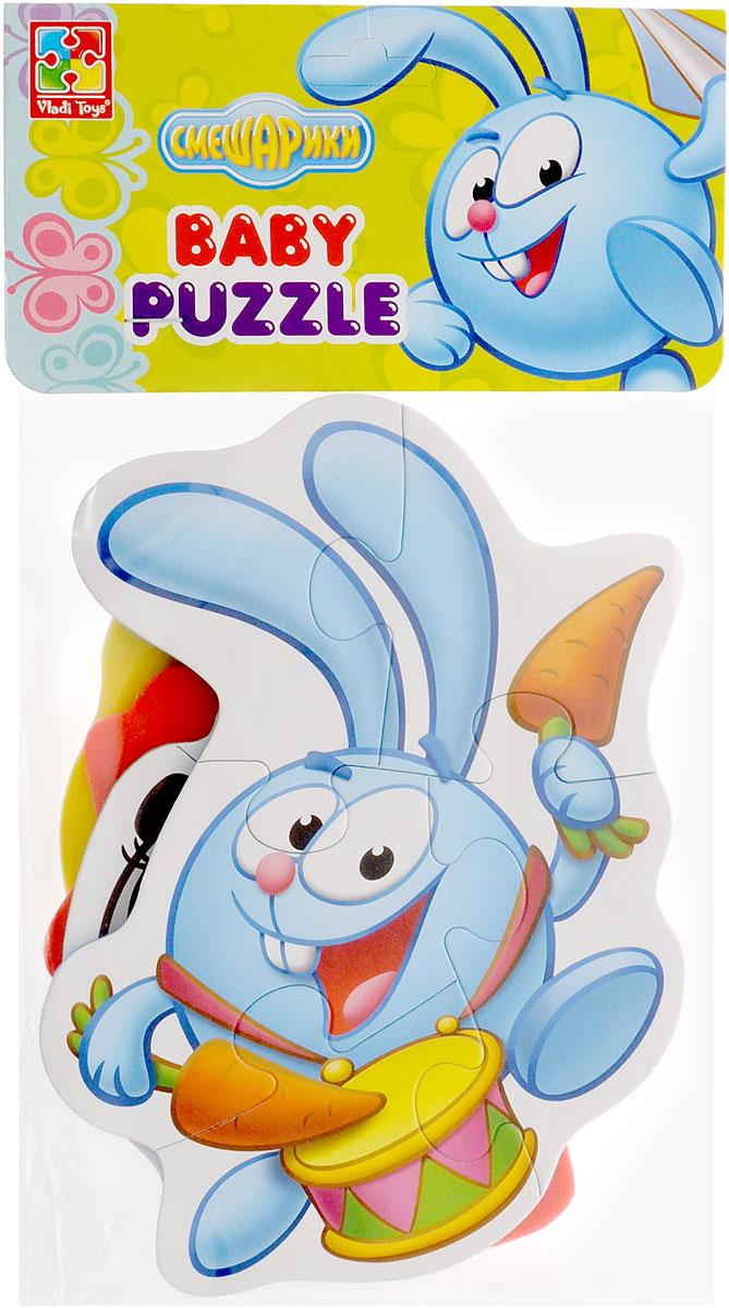 Vladi Toys Мягкие пазлы Baby puzzle Смешарики Пин, Ежик, Крош, Панди пазлы vladi toys пазлы мягкие baby puzzle сказки репка