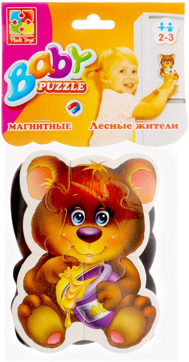 Vladi Toys Мягкие магнитные Baby puzzle Лесные жители мягкие пазлы математика на магнитах