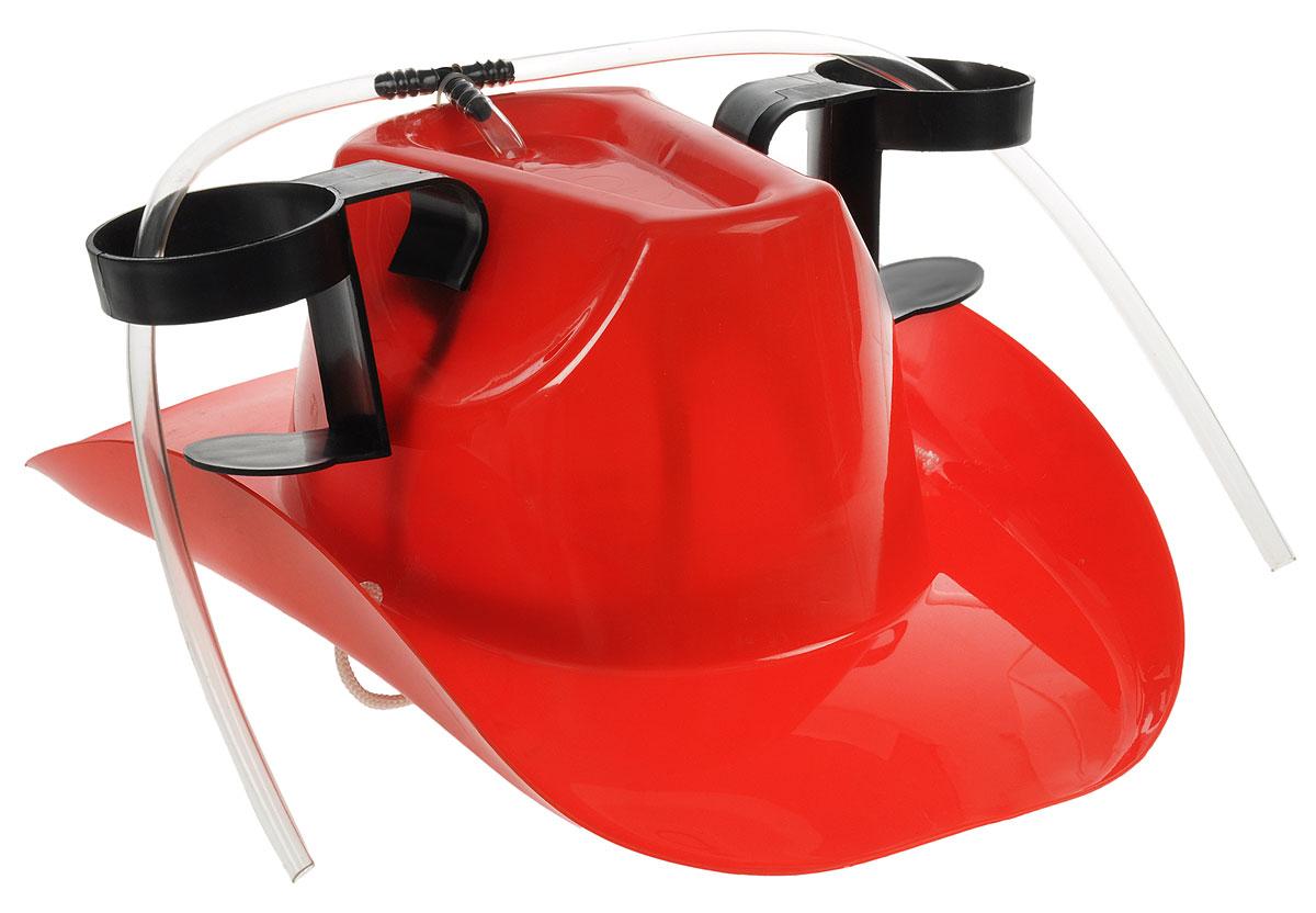 Каска с подставками под банки Эврика Пивная шляпа95044Красивое изделие Эврика Пивная шляпа, выполненное из прочного пластика, подойдет как мужественным ковбоям, так и их лихим подружкам. Шляпа прикроет голову от летнего зноя, утолит жажду напитками, установленными в специальных держателях, освободит руки для более важных дел. Она станет отличным подарком болельщикам, любителям дискотек и пикников.Размер изделия (без учета держателей): 38,5 х 27,5 х 15 см.Внутренний размер: 22 х 17 см.
