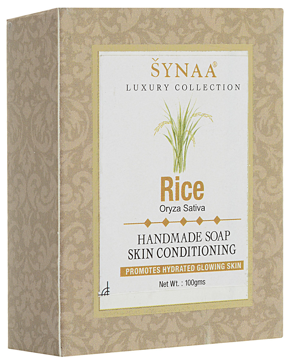 Synaa мыло ручной работы Рис, 100 г levrana натуральное мыло ручной работы шалфей 100 г