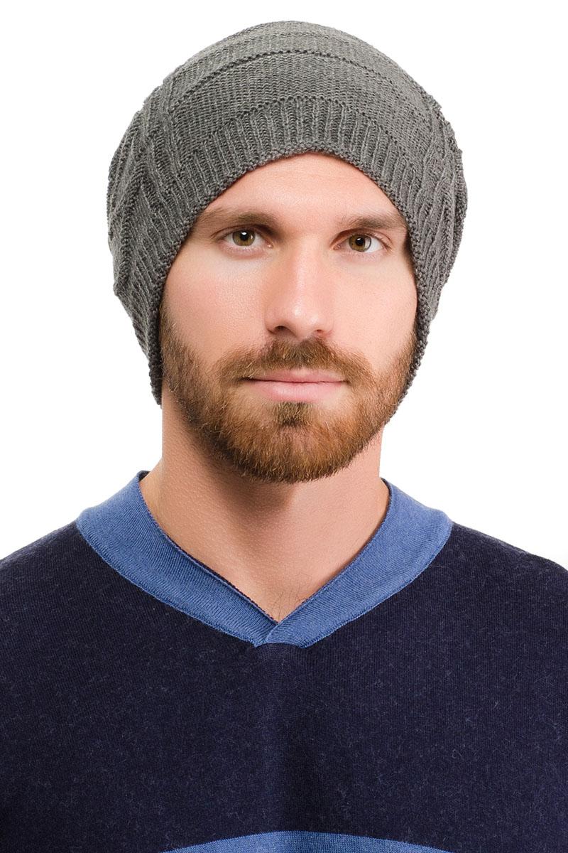 Шапка мужская Moltini, цвет: темно-серый. 171BK-1601. Размер 57/59171BK-1601Вязаная мужская шапка Moltini выполнена из высококачественной пряжи из акрила и шерсти. Модель декорирована объемным вязаным узором в виде сетки.Уважаемые клиенты! Обращаем ваше внимание на тот факт, что размер, доступный для заказа, является обхватом головы.