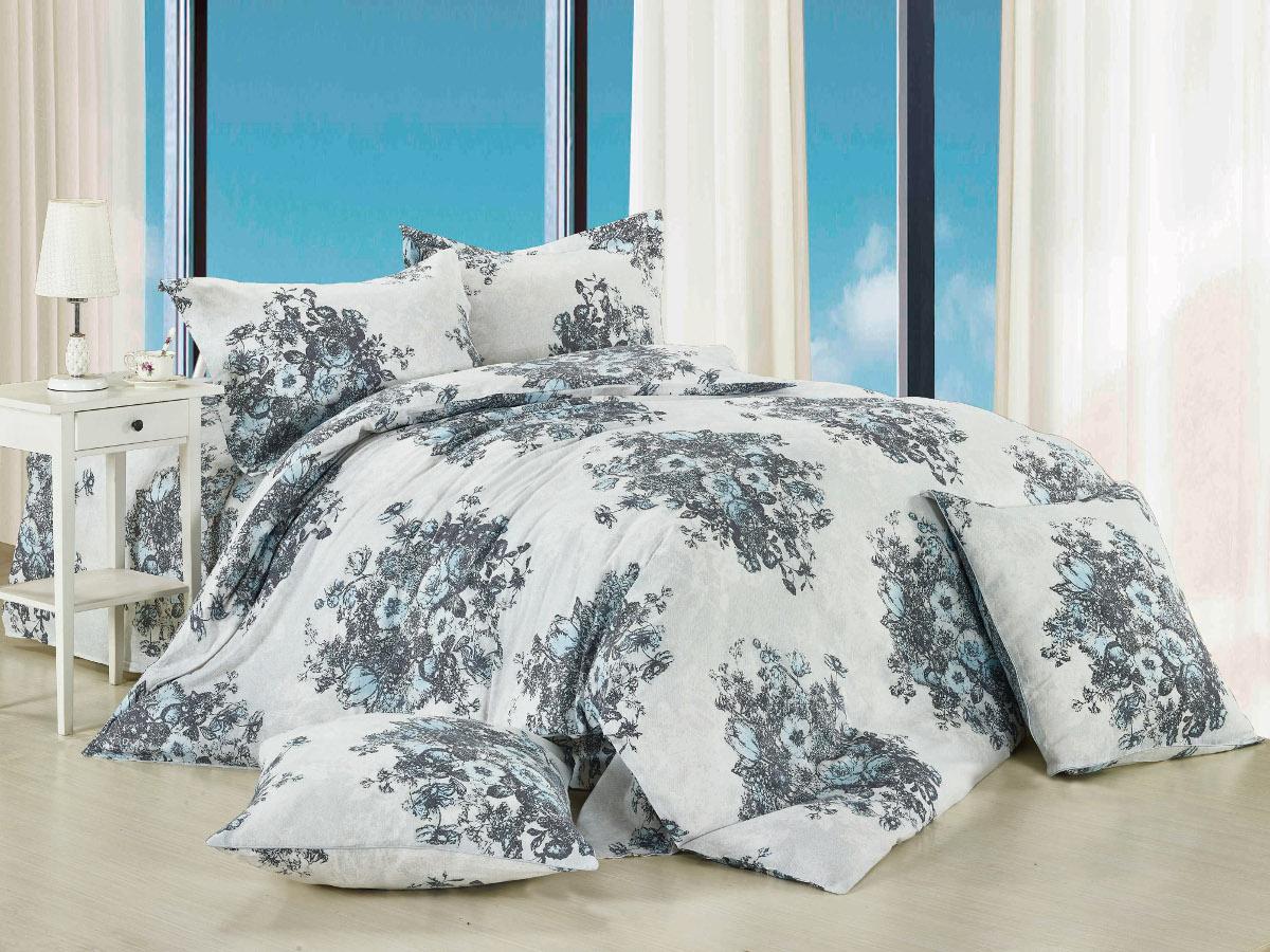 Комплект белья Cleo Габриэлла, 1,5-спальный, наволочки 70x70, цвет: серый. 15/004-BL