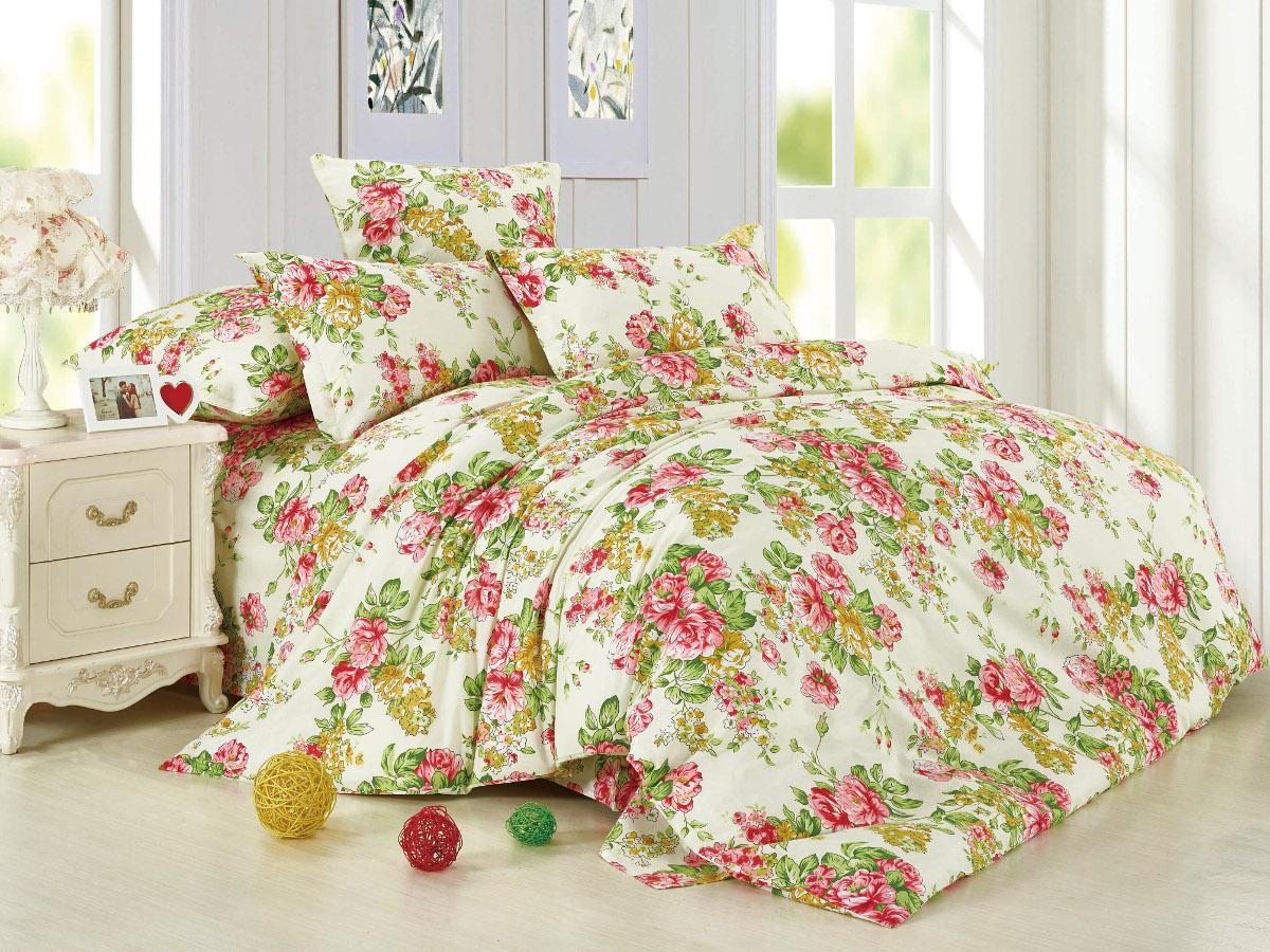 Комплект белья Cleo Ассоль, 1,5-спальный, наволочки 70x70, цвет: розовый. 15/016-BL