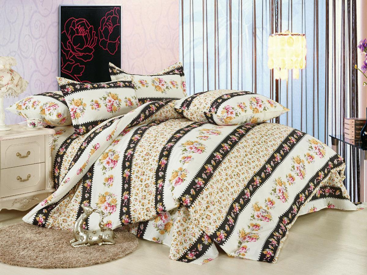 Комплект белья Cleo Парадиз, семейный, наволочки 50x70, 70x70, цвет: бежевый. 41/015-BL