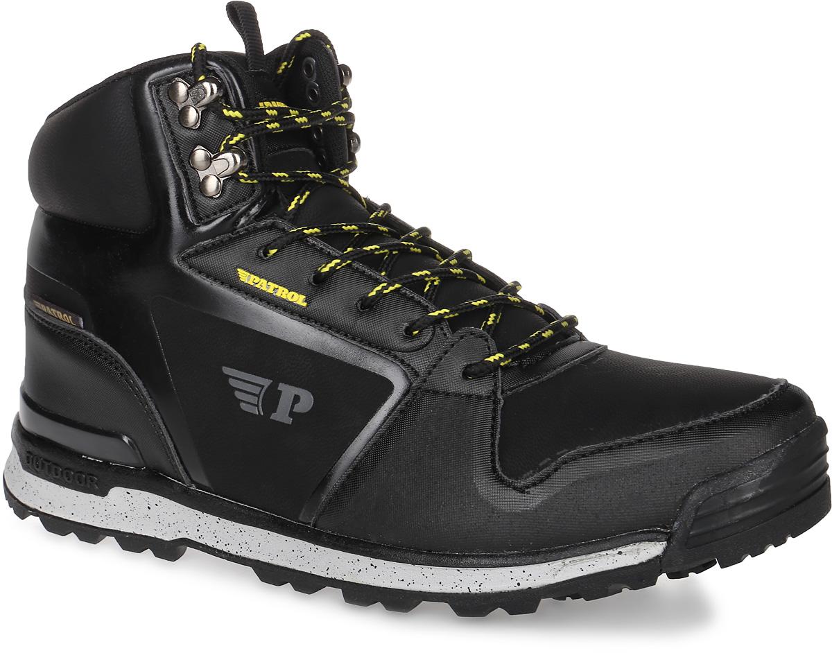 Ботинки мужские Patrol, цвет: черный. 465-032IM-17w-01-1. Размер 42465-032IM-17w-01-1Мужские ботинки от Patrol прекрасно подойдут для активного отдыха и пеших прогулок. Модель выполнена из искусственной кожи. Подкладка, исполненная из искусственного меха, сохранит ваши ноги в тепле. Съемная стелька EVA с поверхностью из искусственного меха обеспечивает отличную амортизацию и максимальный комфорт. Шнуровка позволяет оптимально зафиксировать модель на ноге. Подошва с протектором гарантирует надежное сцепление на любых поверхностях.