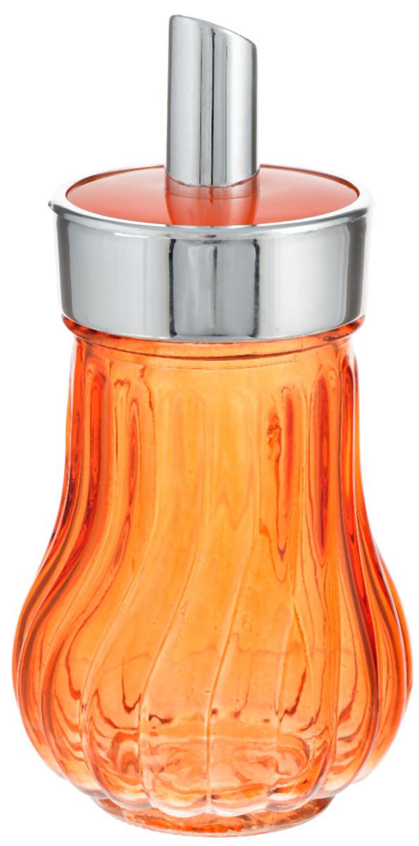 Банка для специй House & Holder, с дозатором, цвет: оранжевый, 200 мл93-DE-CA-01-900Банка для специй House & Holder выполнена из цветного прозрачного граненогостекла. Пластиковая крышка снабжена дозатором, благодаря которому высможете приправить блюда, просто перевернув банку. Изделие подходит как дляжидких специй (оливковое масло, уксус), так и сухих. Крышка легко откручивается,поэтому заполнять банку очень просто.Такая баночка станет достойным дополнением к вашему кухонному инвентарю. Диаметр (по верхнему краю): 6 см. Высота банки (с учетом крышки): 14 см.