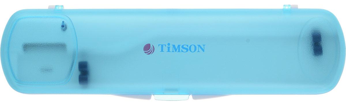 Ультрафиолетовый стерилизатор для зубной щетки Timson ТО-01-27, цвет: голубой сушка для обуви детская timson