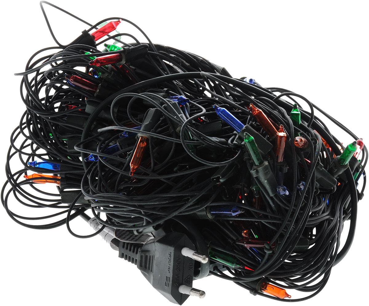 """Электрогирлянда B&H """"Сетка"""" предназначена для декора внутри помещений. Изделие представляет собой гибкую сеть, в узлах которой расположены яркие разноцветные минилампочки. Гирлянда имеет 8 режимов мигания: комбинированный, волны, последовательный, переменно угасающий, бегущие огни, угасающий, быстрое мигание, постоянный. Режим работы переключается нажатием кнопки на контроллере.Электрогирлянда поможет украсить интерьер вашего дома, оформить витрины, окна, новогодние ели и другие объекты внутреннего интерьера. Создайте уютную атмосферу и праздничное настроение вокруг, украшая дом яркими новогодними гирляндами.Размер гирлянды: 1,8 х 1,2 м."""