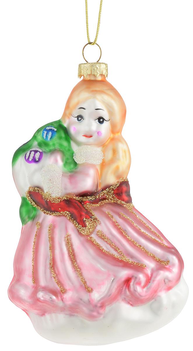 Украшение новогоднее подвесное Winter Wings Девочка, высота 11 смN07578Украшение новогоднее подвесное Winter Wings Девочка прекрасно подойдет для праздничного декора новогодней ели. Изделие выполнено в классическом стиле из стекла в виде девочки и покрыто блестками. Для удобного размещения на елке предусмотрена текстильная петелька. Елочная игрушка - символ Нового года. Она несет в себе волшебство и красоту праздника. Создайте в своем доме атмосферу веселья и радости, украшая новогоднюю елку нарядными игрушками, которые будут из года в год накапливать теплоту воспоминаний.
