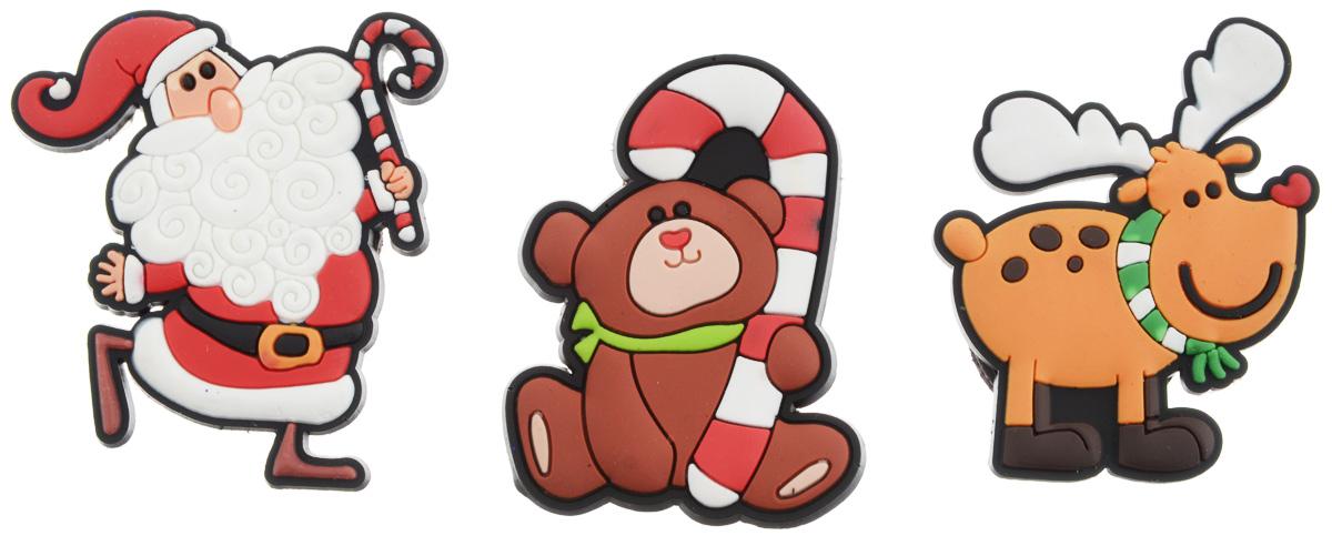 Магниты B&H Мишка, Дед Мороз, олень, 3 штBH1001_мишка, дед мороз, оленьМагниты B&H Мишка, Дед Мороз, олень прекрасно дополнят интерьер помещения в преддверииНового года. Магниты выполнены из резины в виде забавных фигурок Деда Мороза, мишки иоленя.Создайте в своем доме атмосферу веселья и радости, украшая его к Новому году. Откройте длясебя удивительный мир сказок и грез. Почувствуйте волшебные минуты ожидания праздника,создайте новогоднее настроение вашим родным и близким.Средний размер магнитов: 4 х 5 см.