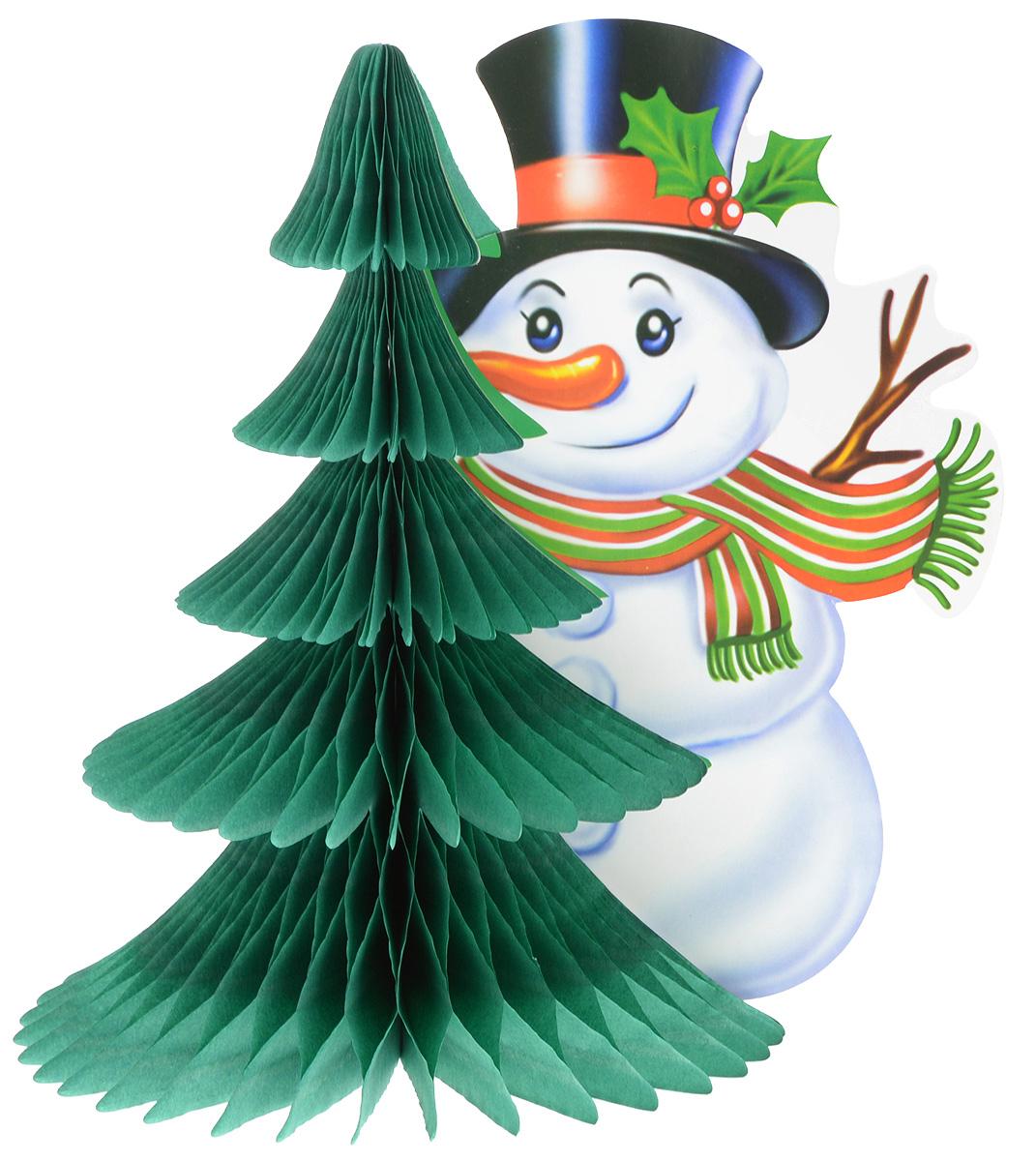 Украшение новогоднее из бумаги B&H Снеговик, длина 24 смBH1216_Снеговик3D украшение из бумаги B&H Снеговик - оригинальное дополнение к домашнему интерьеру в преддверии волшебного праздника. Создать чарующую атмосферу для домочадцев и гостей не составляет сложностей: достаточно раскрыть бумажную конструкцию для того, чтобы стилизованное новогоднее изображение предстало во всей красе. Объемная фигура прекрасно подойдет для украшения праздничного стола или же заставит по-другому взглянуть на обычные книжные полки.