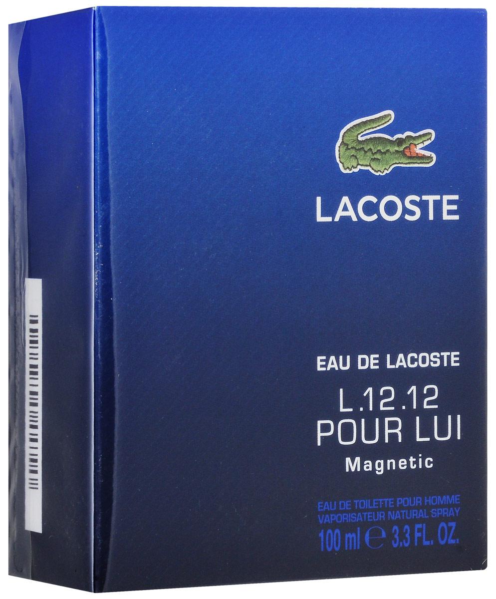 Lacoste Magnetic Туалетная вода мужская 100мл8005610266831Освежающий, зеленый и стильный мужской аромат Eau de Lacoste L.12.12 Magnetic в 2016 году продолжил парфюмерную линейку, посвященную культовой модели, рубашке поло, знаменитого бренда Lacoste. Яркое вступление ноток бамбука, можжевельника и полыни привлекВерхняя нота: Можевельник.Средняя нота: Фиалка.Шлейф: Пачули, аккорд Амбры.Бодрящий и утонченный, EAUEAU DE LACOSTE L.12.12MagneticPourLuiзахватывает с первых нот и постепенно раскрывает свою магическую притягательность.Дневной и вечерний аромат.