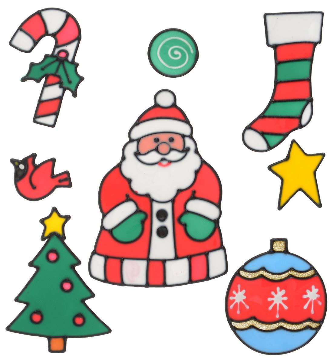 Новогоднее оконное украшение Winter Wings Новый год, 8 штN09202Набор Winter Wings Новый год состоит из восьми наклеек на окно, выполненных из геля.С помощью гелевых наклеек Winter Wings Новый год можно составлять на стекле целые зимние сюжеты, которые будут радовать глаз, и поднимать настроение в праздничные дни! Так же Вы можете преподнести этот сувенир в качестве мини-презента коллегам, близким и друзьям с пожеланиями счастливого Нового Года!Средний размер наклеек: 7 х 11,5 см.