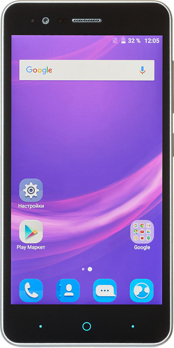 ZTE Blade A510, GreyBLADE.A510.GRСмартфон ZTE Blade A510 может похвастаться эргономичным стильным корпусом, доступным в нескольких цветовых решениях и современным функционалом.Данная модель работает на энергоэффективном процессоре MediaTek MT6735P с 4 ядрами и частотой 1 ГГц. Оперативной памяти 1 ГБ достаточно для комфортной работы системы и использования приложений. Работает смартфон стабильно и шустро.ZTE Blade A510 получил хороший дисплей с матрицей S-IPS. Экран не имеет воздушной прослойки, яркость хорошая, картинка хорошо видна под любыми углами. Сенсор поддерживает до 10 одновременных касаний.Установить можно две сим-карты: micro-SIM и nano-SIM. Только один слот обеспечивает поддержку сетей 4G (B1/B3/7/8/20). Карта памяти microSD (до 32 гигабайт) устанавливается в отдельный слот. Слоты находятся под съемной задней панелью. В комплект также входит вторая съемная панель, отличающая цветом.Телефон сертифицирован EAC и имеет русифицированный интерфейс меню, а также Руководство пользователя.