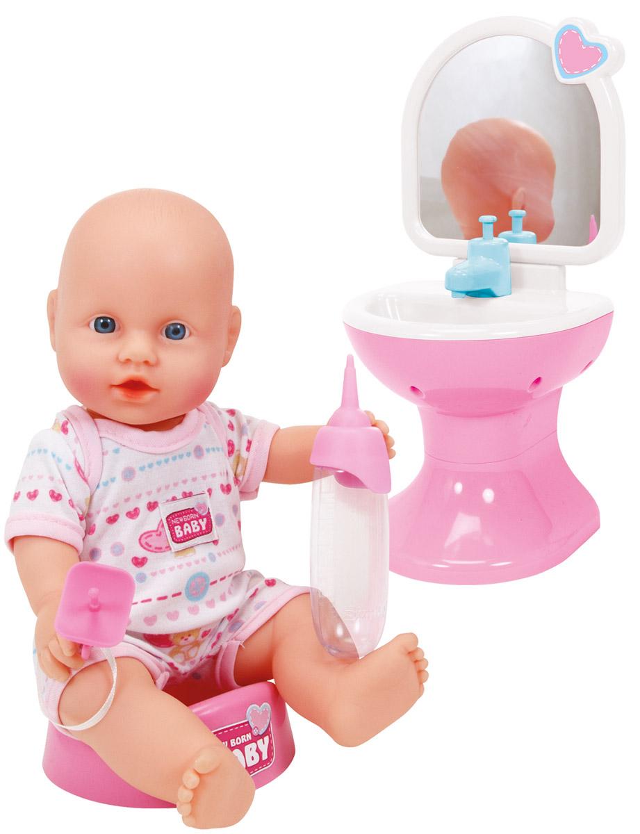 Simba Пупс Новорожденный цвет одежды розовый белый simba кукла штеффи pop art цвет одежды розовый желтый