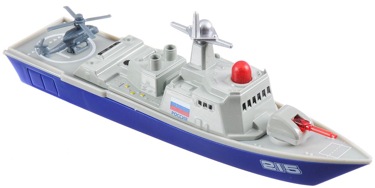 ТехноПарк Военный корабль инерционный конструктор bebox военный корабль 29шт m5951