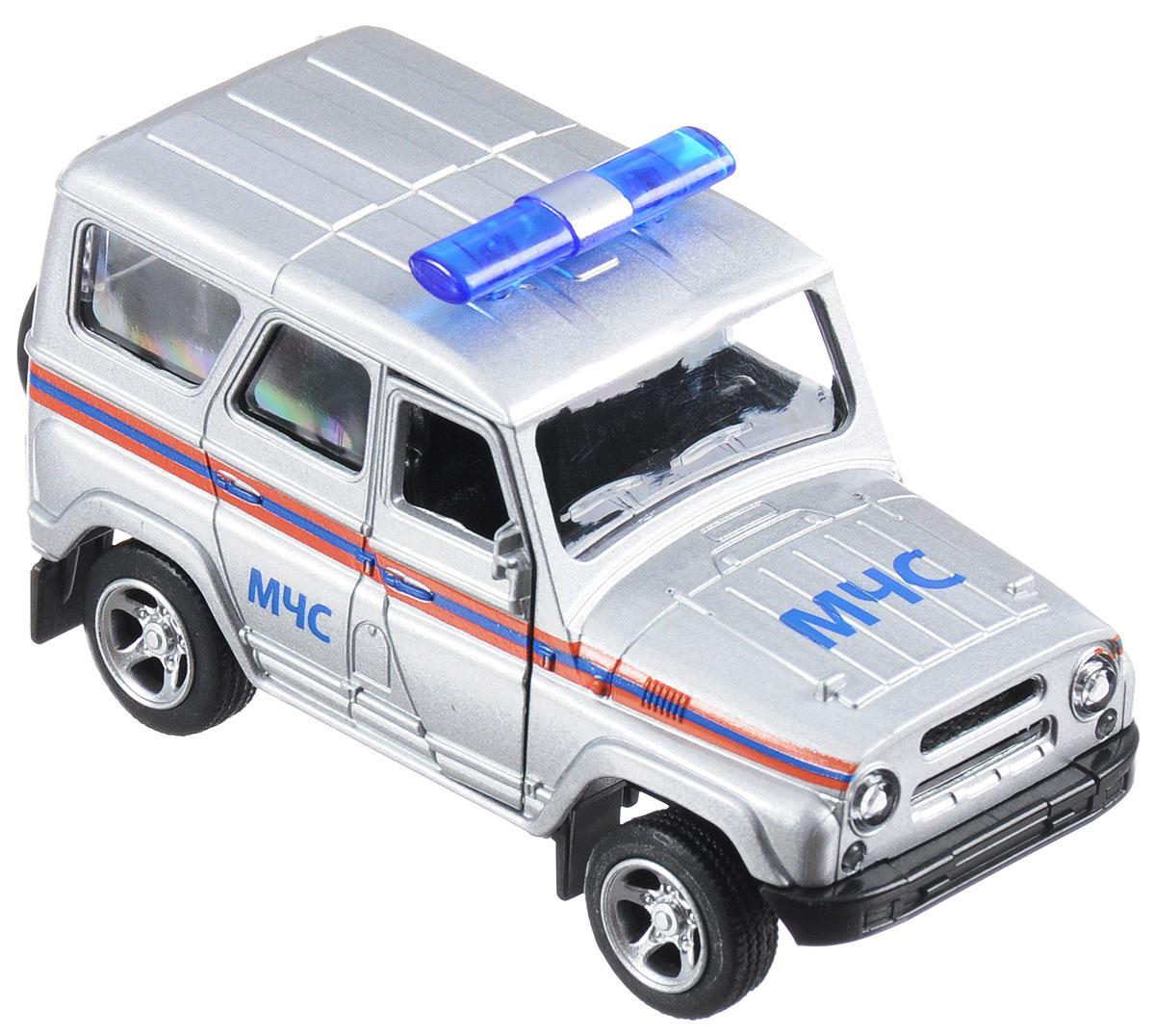ТехноПарк Машинка инерционная UAZ Hunter МЧС технопарк автомобиль uaz hunter пожарная служба