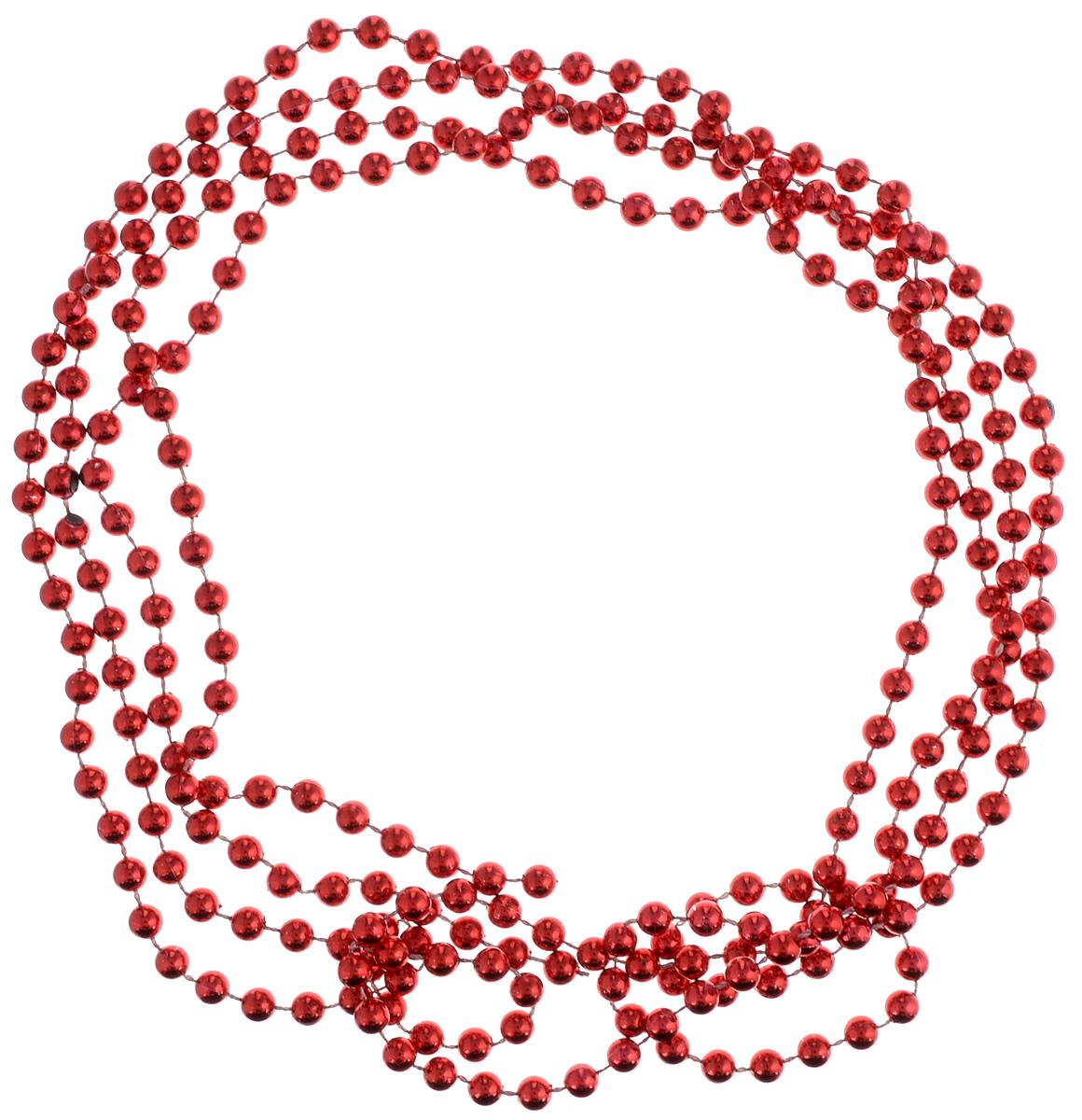 Украшение новогоднее B&H Бусы, цвет: красный, 2,5 мBH1048Новогоднее украшение B&H Бусы, изготовленное из высококачественного пластика, прекрасно подойдет для декора дома или новогодней ели. Такие бусы создадут сказочную атмосферу и подарят ощущение праздника.Декоративные бусы - старинное елочное украшение. Придайте необыкновенную торжественность и яркость елке или создайте новогоднюю композицию в вашем интерьере.