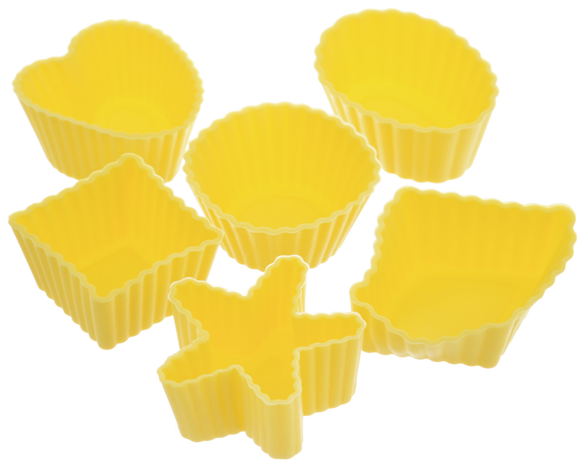 Набор форм для выпечки LaSella, цвет: желтый, 6 шт