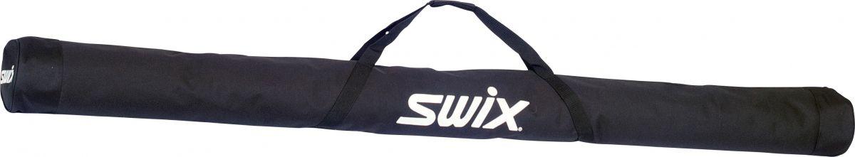 Чехол для беговых лыж Swix, цвет: черный, 215 см. R0282R0282Чехол Swix предназначен для хранения ипереноски двух пар лыж с палками. Изготовлен избрезента и оснащенручкой для переноски.