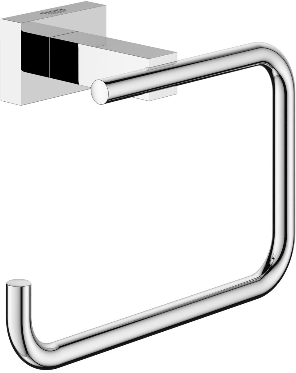 Держатель для туалетной бумаги Grohe Essentials Cube40507001Держатель для туалетной бумаги Grohe Essentials Cube без козырька отличается гармоничным внешним видом и строгими формами. Держатель изготовлен из латуни с хромированным покрытием. Благодаря специальной технологии Grohe StarLight покрытие обеспечивает сияющий блеск на протяжении всего срока службы. Кроме того, оно отталкивает грязь, не тускнеет и обладает высокой степенью износостойкости. Держатель крепится к стене (крепежные элементы поставляются в комплекте). Благодаря неизменно актуальному дизайну и долговечному хромированному покрытию, такой держатель отлично дополнит интерьер, воплощая собой изысканный стиль и превосходное качество.