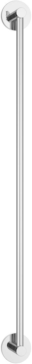 """Держатель для полотенца Grohe """"Essentials"""" изготовлен из латуни. Держатель предназначен для полотенца средних размеров (может вмещать полотенца до 60 см шириной). Универсальный дизайн и функциональность позволит вписаться изделию и интерьер любой ванной комнаты. Держатель изготовлен с нанесением износостойкого покрытия Grohe StarLight®, устойчивого к царапинам и загрязнению. Покрытие, выполненное по специальным технологиям, придает изделию сияющий вид. Держатель крепится к стене при помощи шурупов, входящих в комплект."""