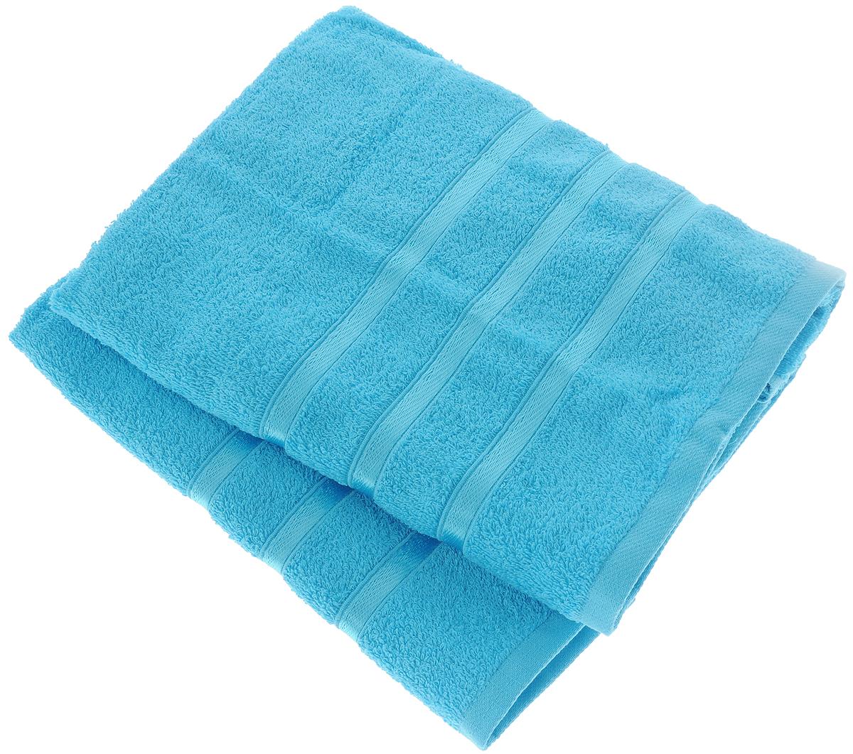 Набор полотенец Tete-a-Tete Ленты, цвет: бирюзовый, 50 х 85 см, 2 шт набор полотенец tete a tete сердечки цвет желтый бирюза 50 х 90 см 2 шт
