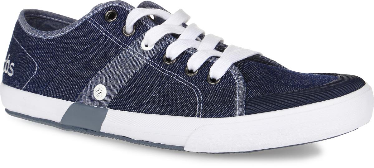 Кеды мужские TBS Henley, цвет: синий джинс. HENLEY-2802. Размер 45 (44)HENLEY-2802Стильные мужские кеды Henley от TBS на широкую ногу - модель для ценителей современной качественной обуви. Модель выполнена из плотного высококачественного текстиля, мысок дополнен рифленой резиной. Внутренняя поверхность и стелька обеспечат комфорт и уют вашим ногам, а два отверстия сбоку отлично циркулируют воздух. Подошва из прочного каучука гарантирует длительную носку и сцепление с любой поверхностью. Классическая шнуровка надежно фиксирует обувь на ноге.