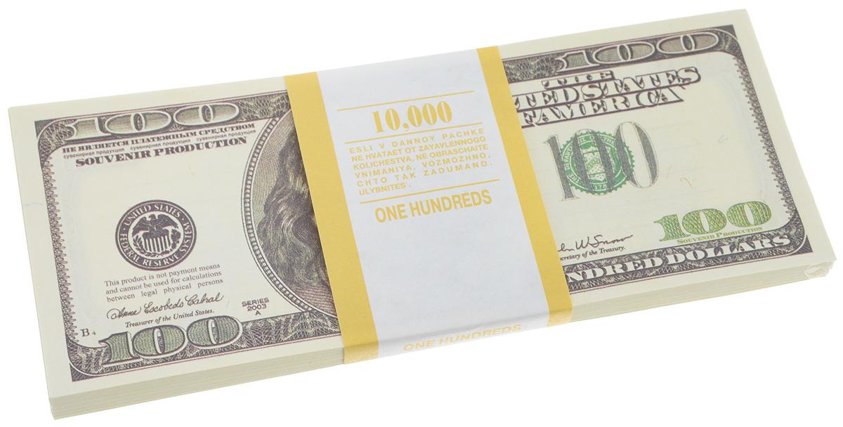 Блокнот Эврика Пачка 100 долларов, 90 листов95517Блокнот Эврика Пачка 100 долларов - это яркий аксессуар для тех, кто ценит практичные и оригинальные вещи. Блокнот состоит из 90 разноцветных линованных листов. Такой оригинальный блокнот поможет вам записать важные мысли и заметки, а его внешний вид не позволит затеряться среди других вещей на вашем столе.Размер одного листа: 6 х 15,1 см.