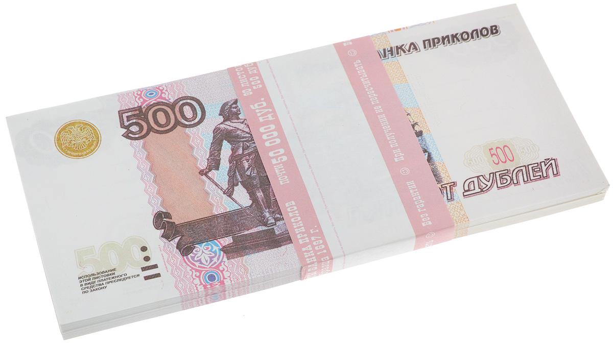 Блокнот Эврика Пачка 500 рублей, 90 листов балетки 500 рублей