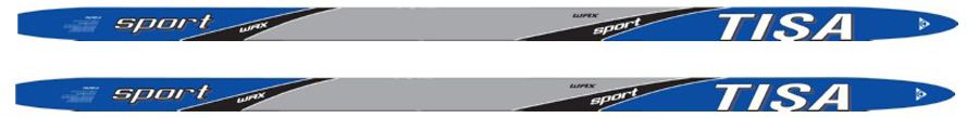 Лыжи беговые Tisa Sport Step Junior, цвет: синий, серый, рост 120 см. N90812 лыжи беговые tisa top universal с креплением цвет желтый белый черный рост 182 см