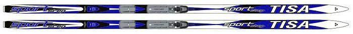 Лыжи беговые Tisa Sport Step, с креплением, цвет: синий, белый, серый, рост 200 см лыжи беговые tisa top classic n90415