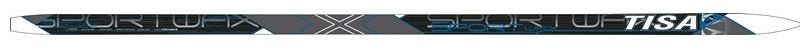 Лыжи беговые Tisa Sport Wax, цвет: серый, черный, рост 190 см. N90915 деревянные лыжи tisa 90515 top universal 177