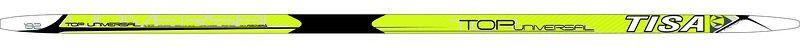 Лыжи беговые Tisa Top Universal, с креплением, цвет: желтый, белый, черный, рост 182 см пластиковые лыжи без насечки tisa 90415 top classic 182