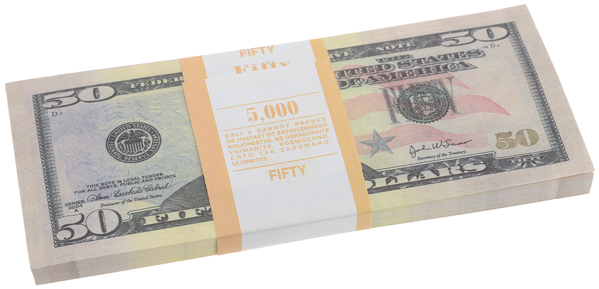 Блокнот Эврика Пачка 50 долларов, 85 листов95528Блокнот Эврика Пачка 50 долларов - это яркий аксессуар для тех, кто ценит практичные и оригинальные вещи. Блокнот состоит из 85 разноцветных линованных листов. Такой оригинальный блокнот поможет вам записать важные мысли и заметки, а его внешний вид не позволит затеряться среди других вещей на вашем столе.Размер одного листа: 6,2 х 15,5 см.