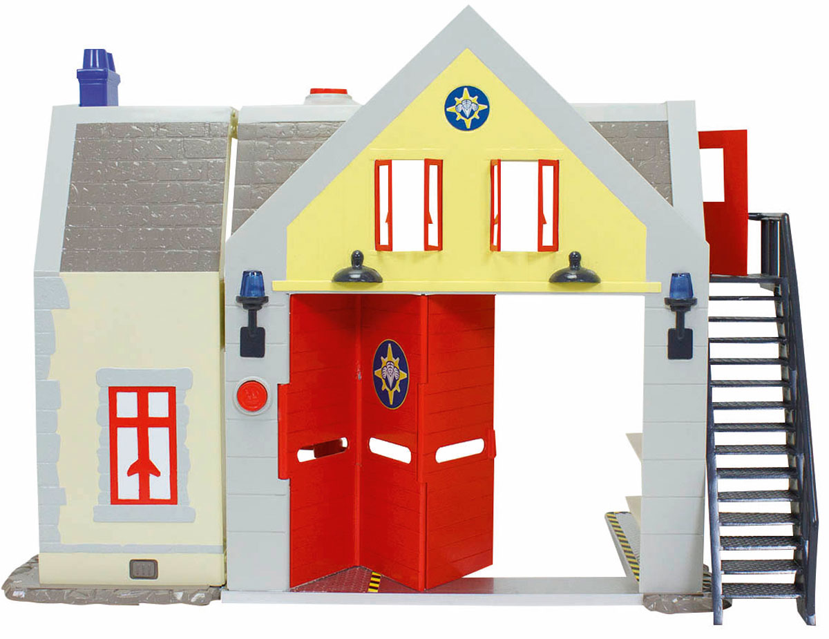Dickie Toys Игровой набор Пожарная станция со звуком  светом