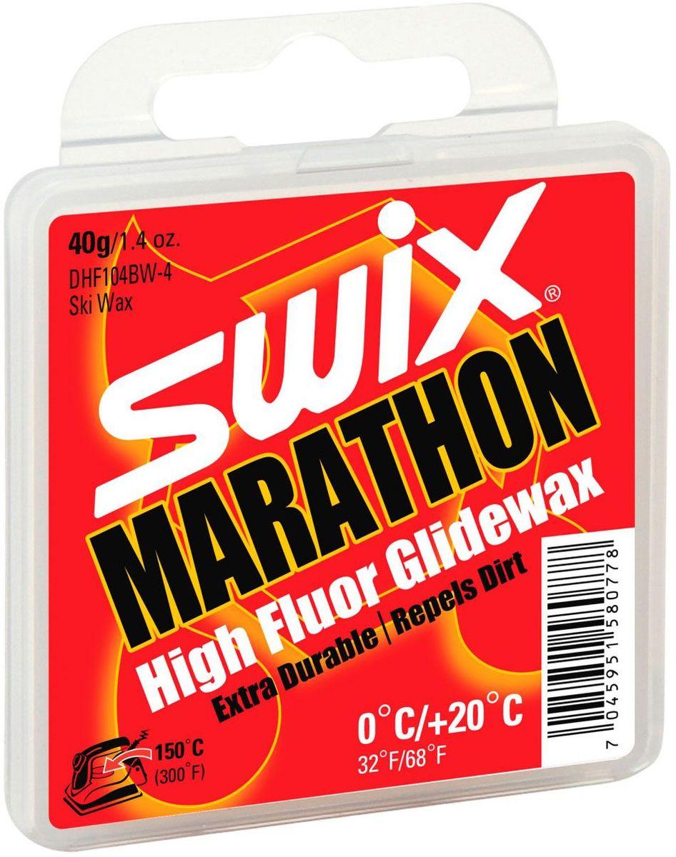 Мазь скольжения Swix DHF104BW MARATHON 0C/+20C, 40 гDHF104BW-4Мазь скольжения Swix DHF104BW MARATHON 0C/+20C - мазь с высоким содержанием фторуглерода и специальной смазочной добавкой BW для температурного диапазона от 0°C до +20°C.Разработана, главным образом, для мокрого загрязненного снега. Твердая консистенция мази обеспечивает высокую устойчивость к загрязнению на мокром снегу. Специальная смазочная добавка BW повышает устойчивость мази к истиранию и способствует уменьшению силы трения между базой лыжи и абразивными частицами грязи. Рекомендованная температура нагрева утюга 150°С