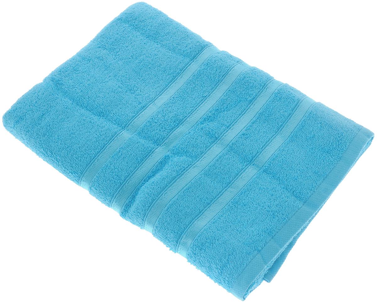 Полотенце Tete-a-Tete Ленты, цвет: бирюзовый, 70 х 135 см