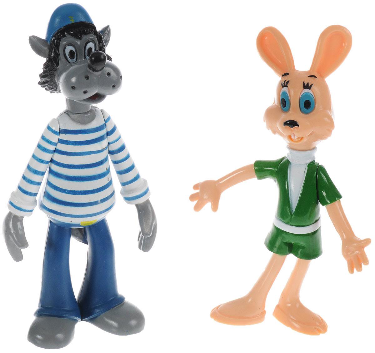 Играем вместе Набор фигурок Ну, погоди! Волк и Заяц фигурки игрушки играем вместе набор из 2 х фигурок попугай кеша и кот