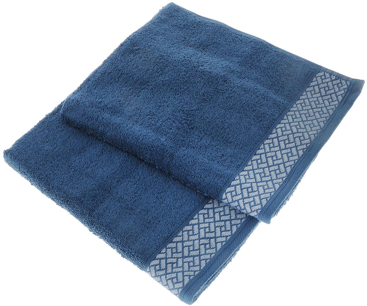 Набор полотенец Tete-a-Tete Лабиринт, цвет: темно-лазурный, 50 х 90 см, 2 штУП-009-04-2Набор Tete-a-Tete Лабиринт состоит из двух махровых полотенец, выполненных из натурального 100% хлопка. Бордюр полотенец декорирован геометрическим рисунком. Изделия мягкие, отлично впитывают влагу, быстро сохнут, сохраняют яркость цвета и не теряют формы даже после многократных стирок. Полотенца Tete-a-Tete Лабиринт очень практичны и неприхотливы в уходе. Они послужат отличным подарком для настоящих мужчин, благодаря строгим насыщенным цветам, а также легко впишутся в любой интерьер.Комплектация: 2 шт.