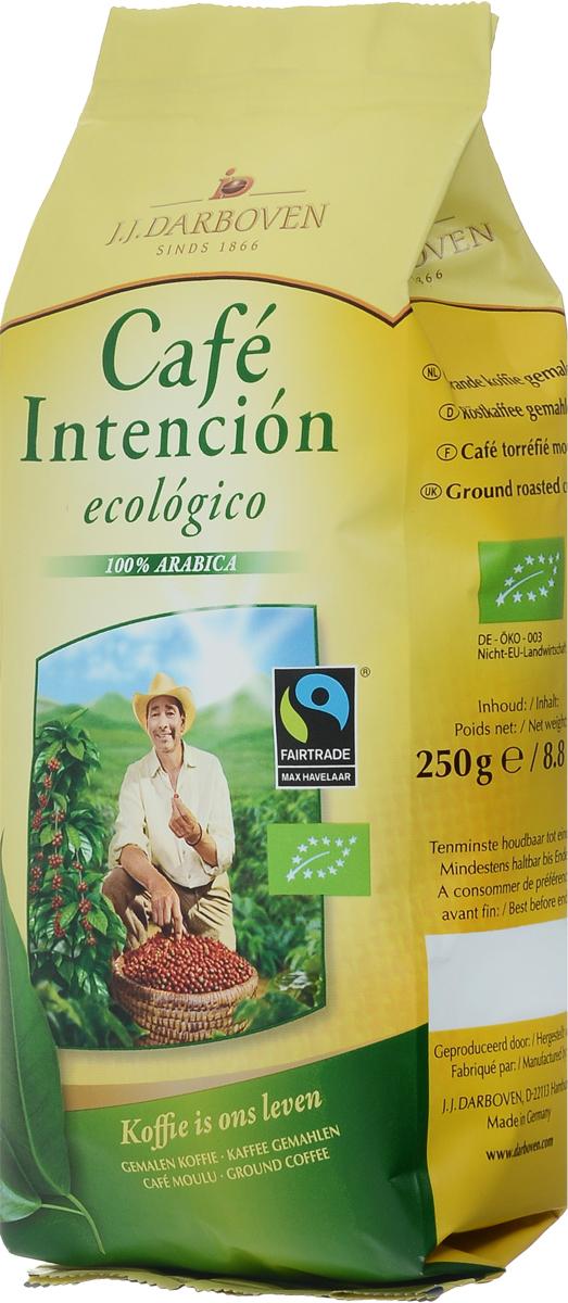 J.J. Darboven Intencion Ecologico кофе молотый, 250 г4006581020655Компания J.J.Darboven работает с кофе Fair trade c 1993 года. Такой кофе закупается напрямую у небольших фермерских хозяйств выращивающих кофе в высокогорных районах. Часть кофе Fair trade поставляется с плантаций сертифицированных как экологически чистых, что подразумевает полный отказ от применения химических удобрений.Кофе: мифы и факты. Статья OZON Гид
