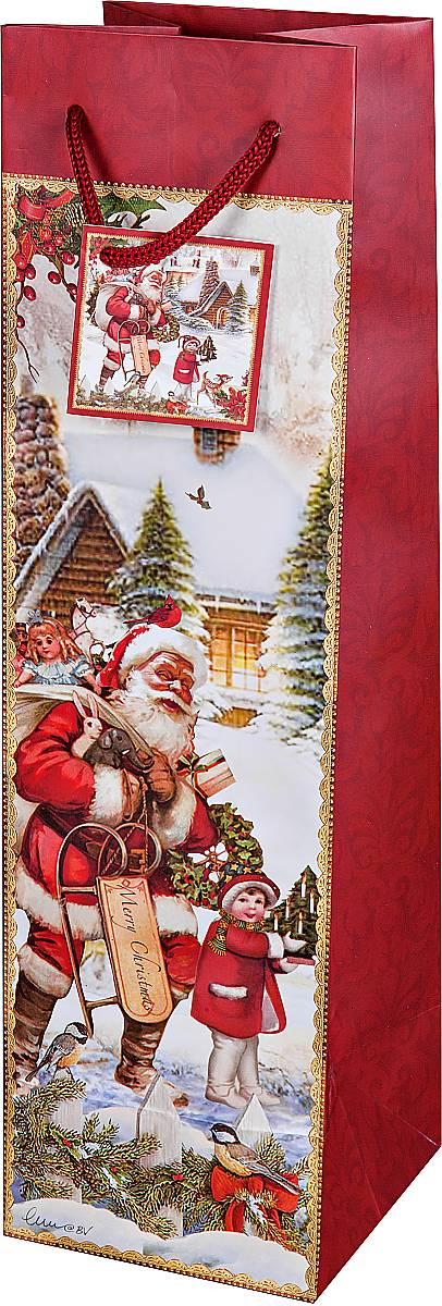 Пакет подарочный для бутылки Mister Christmas Дед Мороз, 10 х 10 х 35 смBR-BB-25Подарочный пакет для бутылки Mister Christmas Дед Мороз, изготовленный из плотной бумаги, станет незаменимым дополнением к выбранному подарку. Дно изделия укреплено картоном, который позволяет сохранить форму пакета и исключает возможность деформации дна под тяжестью подарка. Для удобной переноски имеются две текстильные ручки в виде шнурков.Подарок, преподнесенный в оригинальной упаковке, всегда будет самым эффектным и запоминающимся. Окружите близких людей вниманием и заботой, вручив презент в нарядном, праздничном оформлении.