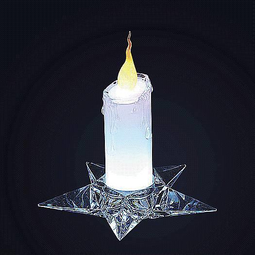 Свеча светодиодная Mister Christmas, с подсвечником, высота 17 см. CANDELA-02CANDELA-02