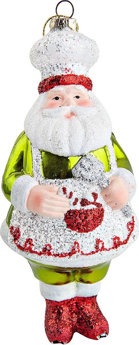 Украшение новогоднее подвесное Mister Christmas Повар, высота 16 см