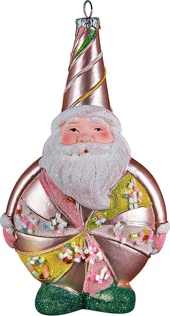 Украшение новогоднее подвесное Mister Christmas Дед Мороз, цвет: светло-розовый, высота 16 см. CD-27CD-27Подвесное украшение Mister Christmas Дед Мороз имееторигинальный дизайн и превосходное исполнение.Изделие выполнено из пластика в виде любимоговсеми Дедушки Мороза. Большие белые усы, праздничныйколпак, добродушное выражение лица - все продумано домелочей. В качестве дополнительного декора былииспользованы блестки и бисер. Для удобного размещенияна елке предусмотрена петелька. Такое украшение станет замечательным новогоднимподарком, который никого не оставит равнодушным.
